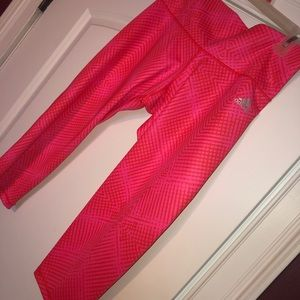 Adidas pink crop leggings
